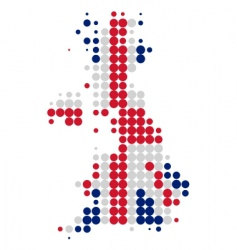 Great Britain map and flag vector image