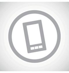 Grey smartphone sign icon vector image