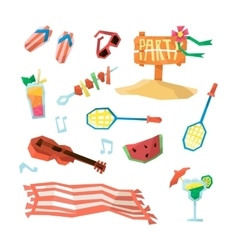 Holidays On The Beach Objects Set vector image