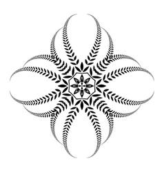 Laurel wreath tattoo black ornament cross sign vector