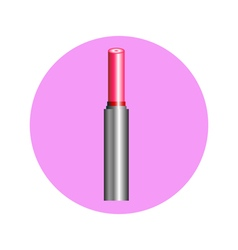 lipstick in circle vector image