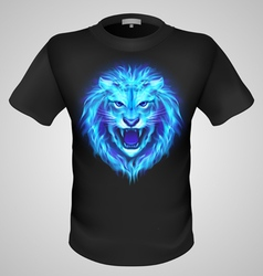 Male tshirt with lion print vector