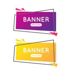 Modern banner summer vector