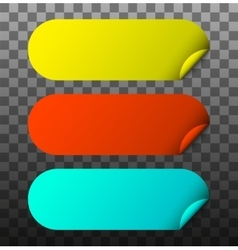 modern colorful stickers set vector image