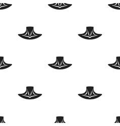 Neck icon in black style isolated on white vector image