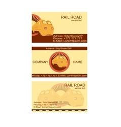 Rail road card vector
