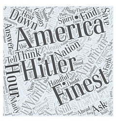 Standing Down Hitler Word Cloud Concept vector image vector image