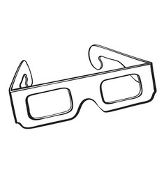 stereoscopic 3d glasses in black plastic frame vector image