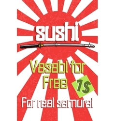 Sushi color banner vector