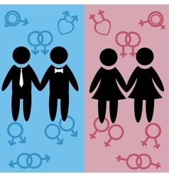 texture informal male and female gay lesbian vector image