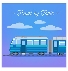 Travel banner tourism industry train travel vector
