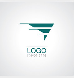 triangle wing company logo vector image