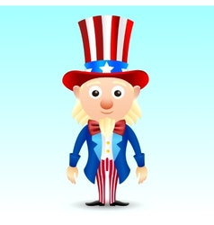 Uncle Sam character vector image