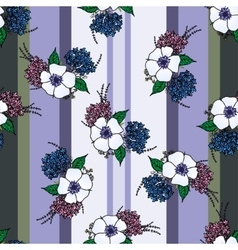 Vertical seamless patterns with provence flowers vector