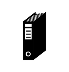 Folder archive documents office supplies icon vector