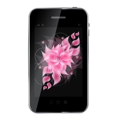 Romantic Flower Background on abstract mobile vector image