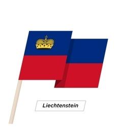 Liechtenstein ribbon waving flag isolated on white vector