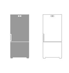 Refrigerator set icon vector