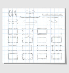 school hand drawn frames vector image
