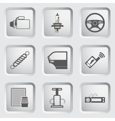 Car part and service icons set vector