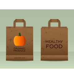 Stylish farm fresh paper bags template mock up vector