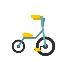 Baby tricycles flat icon vector