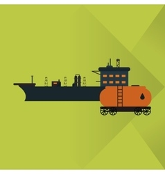 Oil industry and container design vector