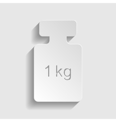 Weight simple icon vector