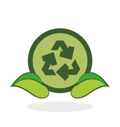 Eco design green concept earth protection icon vector