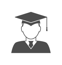Graduate avatar icon vector image
