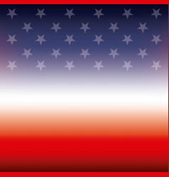 american flag stars color blur background vector image