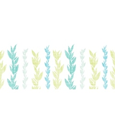 Blue green seaweed vines horizontal seamless vector image