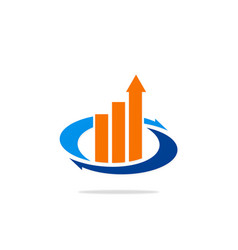 business finance exchange arrow logo vector image
