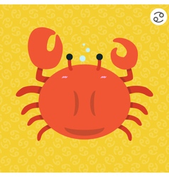 cute big fat cancer zodiac cartoon vector image vector image