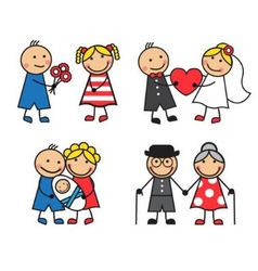 friendly and happy family vector image vector image