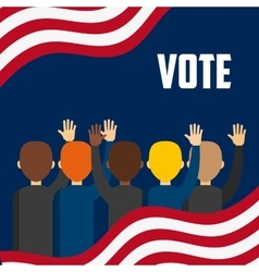 government elections design vector image