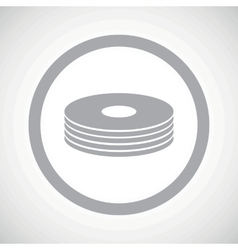 Grey disc pile sign icon vector image vector image