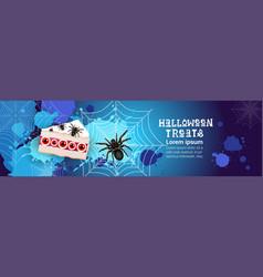 halloween treats banner happy holiday concept vector image vector image