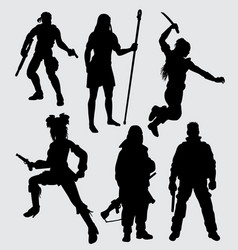 hero people with weapon vector image vector image