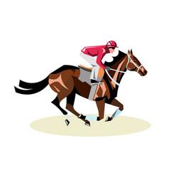 Jockey on horse horse racing horse riding vector