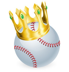 King of baseball vector