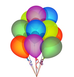 Multicolor Party Balloons vector image vector image