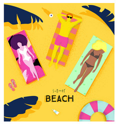 Poster summer beach vector