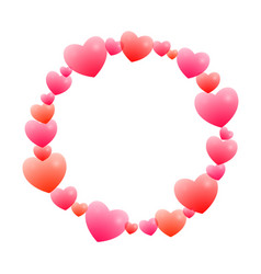 romantic round frame vector image vector image