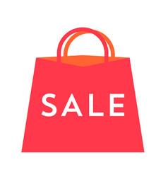 sale text on red bag flat for vector image vector image