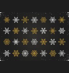 Snowflakes symbols collection vector