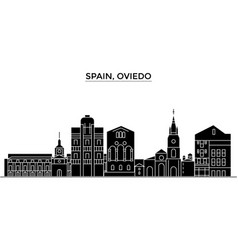 Spain oviedo architecture city skyline vector