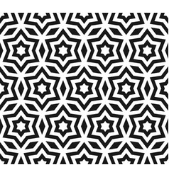 stars seamless pattern geometric ornament texture vector image vector image