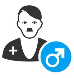 Urologist doctor flat icon vector