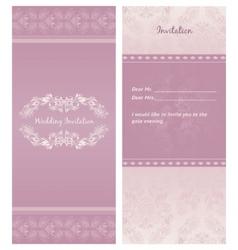 weddinginvitation background template vector image vector image